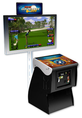 Golden Tee Live 2020 Pedestal with Coin,Bill